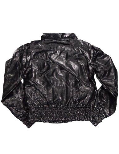 Lipstick - Ladies Faux Leather Jacket, Black 32477-Medium