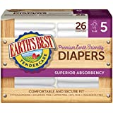 Earth's Best Chlorine-Free Diapers, Size 5, 104 Count