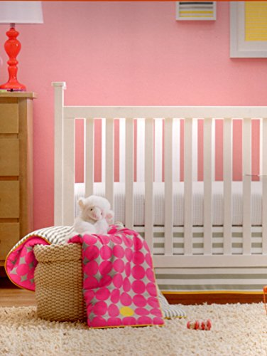 gigggleBaby Shocking Pink Dot Collection 3 piece Crib Bedding