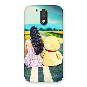 Ajay Enterprises Girl Teddy Multicolors Back Case Cover for Motorola Moto G4