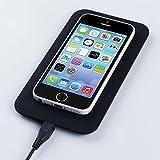 ポンと置くだけ超簡単!Qi」規格ワイヤレスチャージャー  スマホ充電器 ブラック(iPhone6対応可)(【対応機種】docomo:AQUOS PHONE ZETA SH-06E / Optimus it L-05E / ELUGA P P-03E / MEDIAS X N-04E / ELUGA X P-02E / AQUOS PHONE EX SH-04E / ARROWS Kiss F-03 / EELUGA V P-06D / F-09D ANTEPRIMA / ARROWS X F-10D / AQUOS PHONE st SH-07D / AQUOS PHONE ZETA SH-09D / ARROWS kiss F-03D / AQUOS PHONE Slider SH-02D シャープ / Q-pot.Phone SH-04D シャープ / SH-05D シャープ / AQUOS PHONE f SH-13C シャープ / SoftBank:MEDIAS CH SoftBank 101N NECカシオ / au:URBANO L01,L02,L03 / イーモバイル:Nexus5 / UQ WiMAX : Wi-Fi Walker )