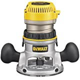 DEWALT DW618K 2-1/4 HP Electronic Variable Speed Fixed Base Router with So Start Kit (Color: Yellow)