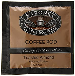 Baronet Coffee Toasted Almond Medium Roast, 18-Count Coffee Pods (Pack of 3)
