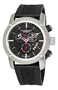 Burberry Men's BU7700 Endurance Black Chronograph Dial Rubber Strap Watch