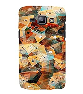 iFasho Modern Theme of royal design in colorful pattern Back Case Cover for Samsung Galaxy J1 (2016 Edition)