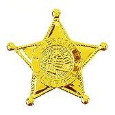 (カバーユアヘア)CoverYourHair ゴールドプラスチックシェリフバッジ - ゴールデンには玩具プラスチック警察保安官バッジ 【インポート】