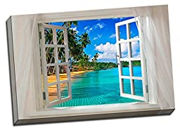 Glimpse into the Beach Canvas Wall Art