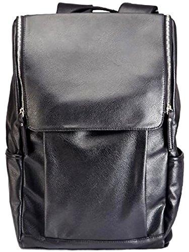 KAIKSO-IN Mode für Männer Leder Rucksack Tasche Rucksack Schultasche fit Laptop wieder in die Schule