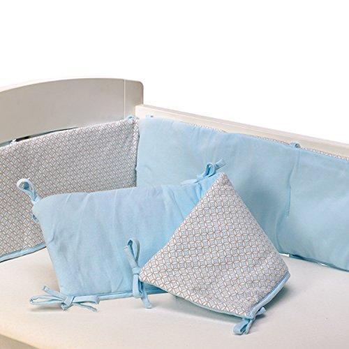 Living Textiles Jersey Pintuck Bumper, Blue/Skylar - 1