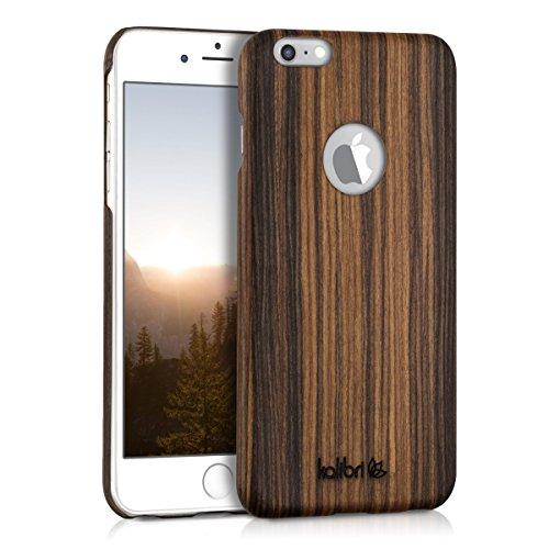 kalibri-Holz-Case-Hlle-fr-Apple-iPhone-6-Plus-6S-Plus-Handy-Cover-Schutzhlle-aus-Echt-Holz-und-Kunststoff-aus-Lindenholz-in-Braun