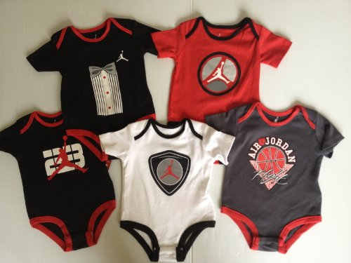 Nike Air Jordan Jumpman Basketball Baby Infant Boy Bodysuits Set of 5 (6 - 9 Months)