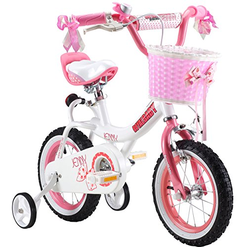 Royalbaby Jenny Princess Pink Girl's Bike with Training Wheels and Basket, Perfect Gift for Kids, 12-14-16 inch wheels 0