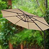 Ultimate - 11.5 ft Solar Cantilever Umbrella Wheat 2 Yr Fade Warranty