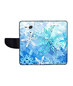 KolorEdge Printed Flip Cover For Sony Xperia SP Multicolor - (45KeMLogo11344XperiaSP)