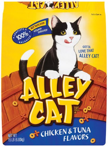 Image of Alley Cat 15 Lb Chicken & Tuna Flavors Cat Food  292