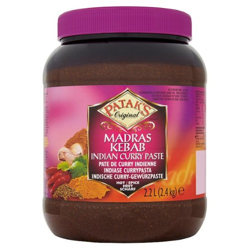 Origine Madras Kebab Indian Curry de Patak Coller 2,4 kg Hot