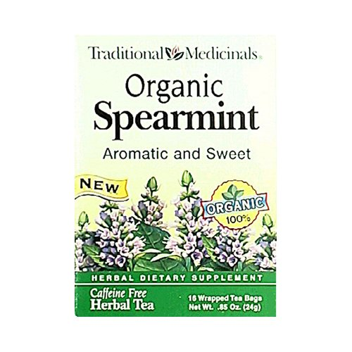 Wholesale Traditional Medicinals Organic Spearmint Herbal Tea - 16 Tea Bags - Case Of 6, [Food, Tea]