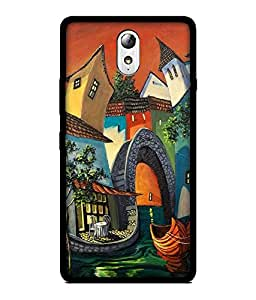 Chnno 2d abstract Printed Back Cover For Lenovo Vibe P1M No- 1084
