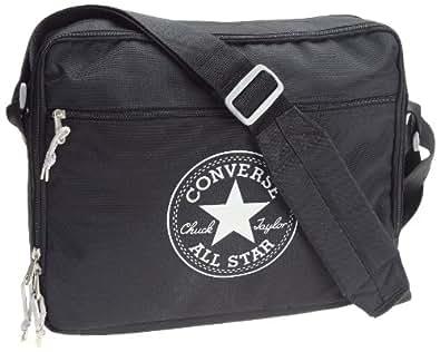 Converse Messenger Bag 2, Unisex - Erwachsene Umhängetasche, Schwarz (Noir/gris), Einheitsgröße