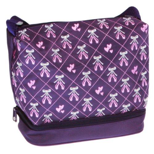 Horizon Dance Little Girls Purple Embroidered Ballet Shoes Dance Bag