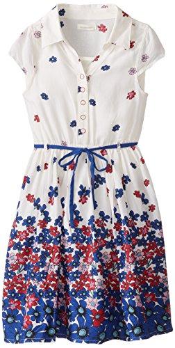 Pumpkin Patch Big Girls' Floral Border Print Dress