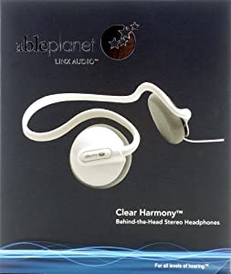 Able Planet Clear Harmony Behind the Head Stereo Headphones - White (Discontinued by Manufacturer)