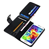 Nicerocker Useful 2 in 1 Business Style Case Cover with Wallet Flip Purse For Cell Phone (Samsung Galaxy S5 i9600)