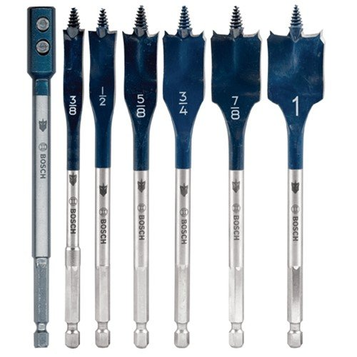 Bosch Daredevil DSB5005 7-Piece Spade Bit Set With Extension