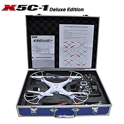 Potensic® Luxury Collection Upgraded Version Syma X5C-1 quadcopter and Carrying Case for Syma X5C-1 X5C X5 Quadcopter Drone FJPJ0125