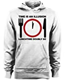 Hitchhikers Guide to the Galaxy - Time is an Illusion Lunchtime Doubly So Quote Hoodie