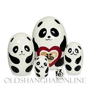 Wood Nesting Doll - Panda (Good Luck)