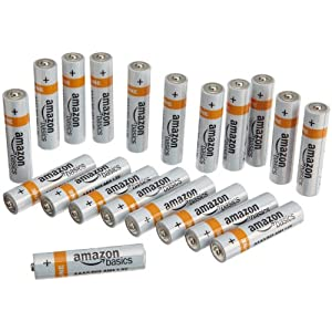 AmazonBasics Alkaline Batteries (Pack of 20)