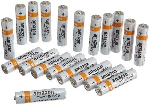 Amazonbasics Aaa Everyday Alkaline Batteries (20-Pack)