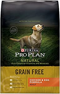 Purina Pro Plan Dry Dog Food Bag with Free Chicken and Egg Formula, 4-Pound, 1-Pack