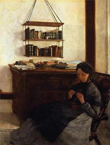 Oil Painting 'Louis Eysen-The Artist's Mother,1877' Printing On High Quality Polyster Canvas , 10x13 Inch / 25x34 Cm ,the Best Gym Decoration And Home Gallery Art And Gifts Is This High Definition Art Decorative Canvas Prints