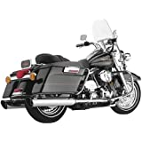 Cobra 4 Inch Slip On Slashdown Chrome Muffler for Harley Davidson FL Touring Mo