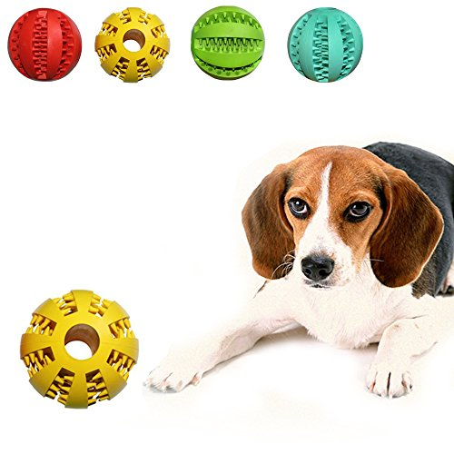 Geekercity Toy Ball for Pet Dogs - Cute Durable Non-Toxic Rubber Strong Tooth Cleaning Dog Toy Balls for Pet Training Playing Chewing Made of Soft Rubber,Bouncy - Diameter 7cm (Yellow) (Home Made Lightsaber compare prices)