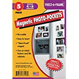 "Freez-A-Frame Magnetic Photo Frame Pocket 4"" x 6"" (5 Pack)"