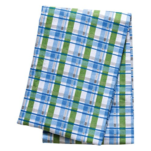 Trend Lab Swaddle Blanket, Blue Plaid - 1
