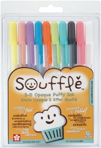 Gelly Roll Souffle Opaque Puffy Ink Pens 10/Pkg-Assorted Col