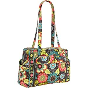 Amazoncom vera bradley make a change baby bag flower for Vera bradley bathroom bag
