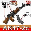 AK47 Overmolded Black Rifle with Bonus Ammo - Custom LEGO Minifigure Pieces
