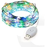 USB String Lights, YINGHAO Color Changing 120 LED/40ft Starry Lights Copper Wire Starry LED String Lights Silver...