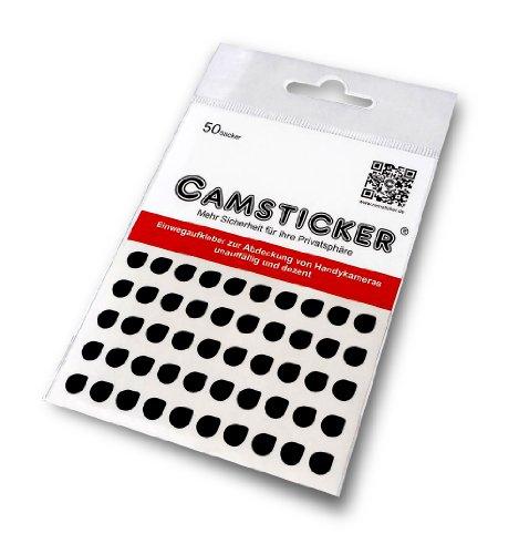 50 Stk. CAMSTICKER® Ø6mm - SCHWARZ MATT - Kamera Aufkleber für integrierte Miniwebcams - Für Smartwatch, Handy, Tablet, Notebook, Laptop, Monitor & Fernseher