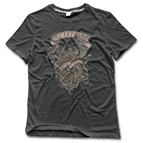 Laugh Dusk Men's Def Leppard Rock Of Ages Mens T-Shirt
