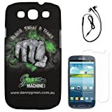 DMG Night Glow Hard Back Cover Case For Samsung Galaxy S3 Neo GT-I9300I (Punch) + Black Earphones + Matte Screen...