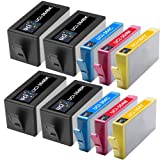 UCI Remanufactured Ink Cartridge Chipped Replace HP364BK HP364C HP364M HP364Y - 2Sets + 2BK Of 4 Pack For HP Printers ( Non-Original )