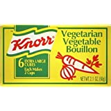Knorr Vegetarian Vegetable Bouillon 6 Extra Large Cubes, 2.1 Oz