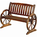 BURNT WOOD GARDEN WOODEN BENCH 2 3 SE...
