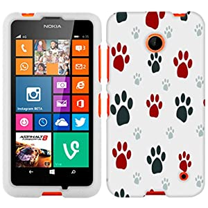 Amazon.com: Nokia Lumia 635 Paw Print Clip Art Phone Case ...